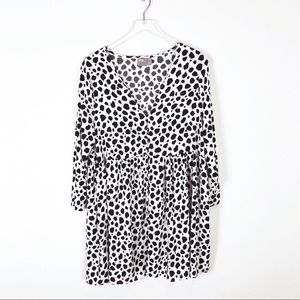 ASOS | Cow Print Babydoll Dress Size 14